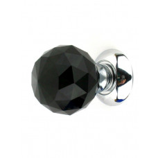 Дверная ручка ONYX KRYSTAL PREMIUM 6025 BL/CP