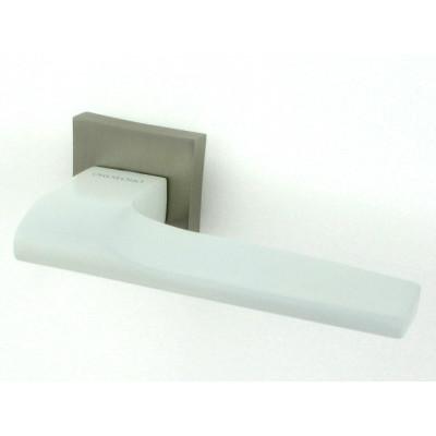 Дверная ручка ORO&ORO 925-13 White/MSN белый-никель суперматовый
