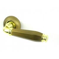 Дверная ручка FUARO ENIGMA AB/GP бронза/золото