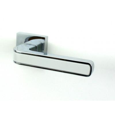 Дверная ручка FUARO NEO DM CP/WH хром/белая