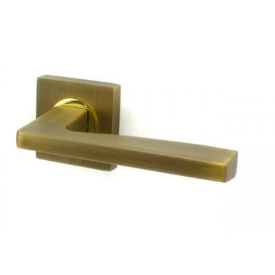 Дверная ручка FUARO ROCK KM AB/GP бронза антик/золото