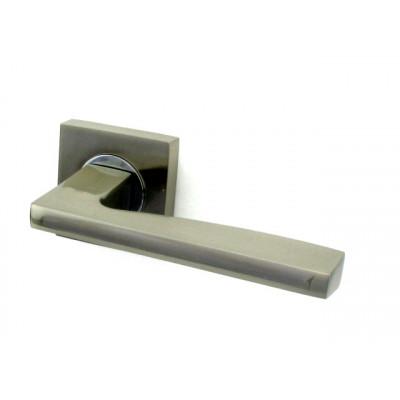 Дверная ручка FUARO ROCK KM SN/CP матовый никель/хром