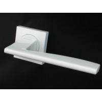Дверная ручка FUARO ROCK KM WH-19 белый глянцевый