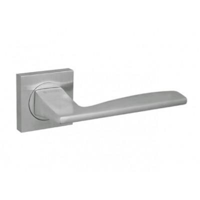 Дверная ручка Fuaro (Фуаро) ROCK KM SC матовый хром