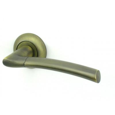 Дверная ручка РЕНЦ (RENZ) КАПРИ МАВ бронза антик матовая