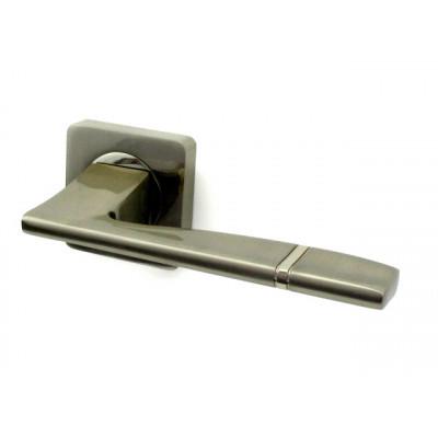 Дверная ручка РЕНЦ (RENZ) РИВОЛИ SN никель матовый