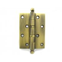 Дверная петля Venezia CRS010 100х75х2.5мм латунная универсальная 2 подшипника матовая бронза