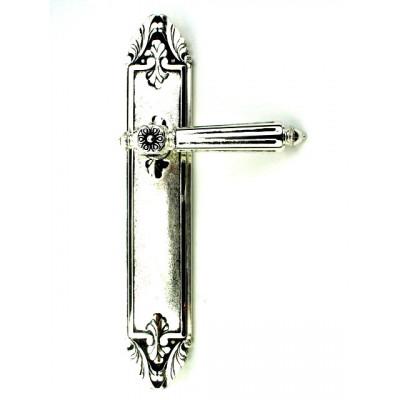 Дверная ручка Venezia CASTELLO PL 90 натуральное серебро-черный