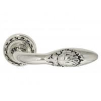Дверная ручка Venezia CASANOVA D2 натуральное серебро-черный