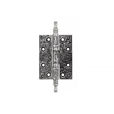 Дверная петля Venezia CRS011 102х76х4,0 мм полированный хром-черный