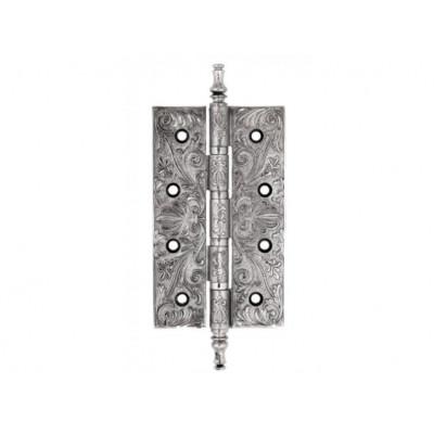 Дверная петля Venezia CRS012 152х89х4,0 мм полированный хром-черный