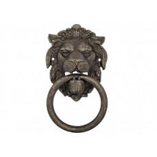 Дверной молоточек Venezia LEONE 190х110 античное серебро
