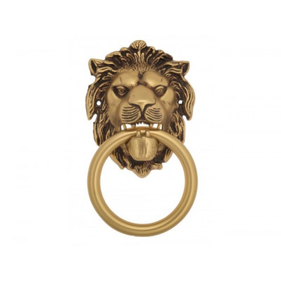 Дверной молоточек Venezia LEONE 190х110 французское золото-коричневый