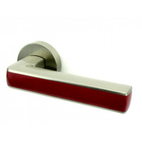 Дверная ручка Armadillo CUBE SN-Bordo матовый никель-бордо