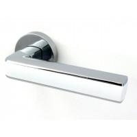 Дверная ручка Armadillo CUBE CP-White хром-белый