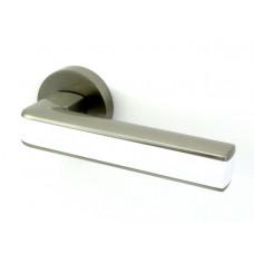 Дверная ручка Armadillo CUBE SN-White матовый никель-белый