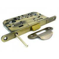 Механизм замка под цилиндр Fuaro P85C-50 AB старая бронза  с ответной частью