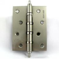 Дверная петля универсальная MSM locks фигурная 100х75х2,5 мм матовый никель