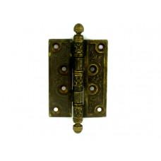 Дверная петля VAL DE FIORI 102х76х3мм латунь универсальная 4 подшипника ОВ бронза состаренная
