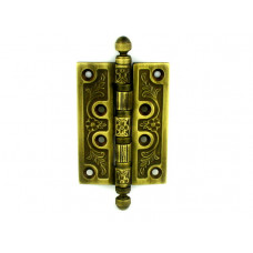 Дверная петля VAL DE FIORI 102х76х3мм латунь универсальная 4 подшипника YB латунь состаренная