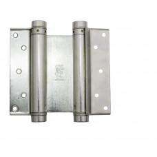 Петля дверная пружинная двусторонняя маятниковая ALDEGHI 100 мм никель