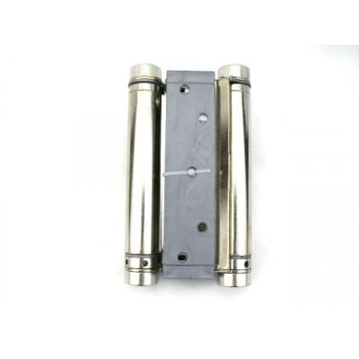 Петля дверная пружинная двусторонняя маятниковая ALDEGHI 150 мм никель