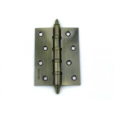 Дверная петля универсальная MSM locks фигурная 100х75х2,5 мм бронза