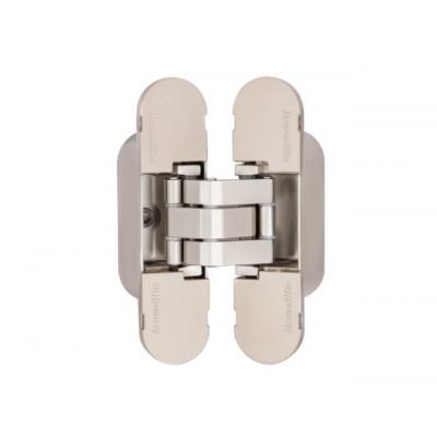 Петля дверная скрытаяи Armadillo 40 кг UNIVERSAL 9540UN3D SN матовый никель универсальная