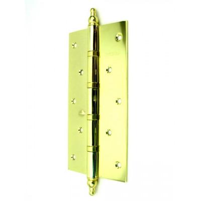Дверная петля FUARO универсальная с декором 200х105х3 мм золото блестящее