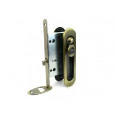 Комплект замка Armadillo для раздвижных дверей под фиксатор бронза