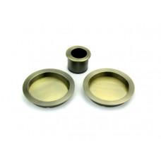 Комплект круглых ручек ONYX для раздвижных дверей старая бронза