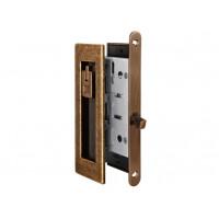 Комплект замка для раздвижных дверей под фиксатор Armadillo SH 011 URB AB бронза