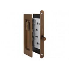 Комплект замка для раздвижных дверей под фиксатор Armadillo SH 011 URB BB-17 коричневая бронза