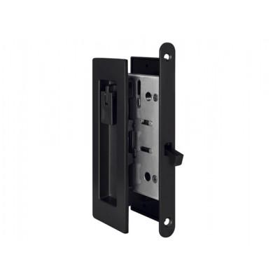Комплект замка для раздвижных дверей под фиксатор Armadillo SH 011 URB BL-26 черный