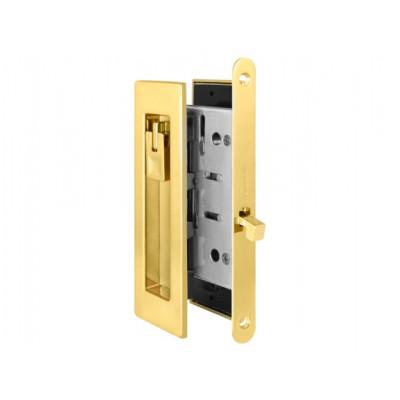 Комплект замка для раздвижных дверей под фиксатор Armadillo SH 011 URB GOLD-24 золото 24 К