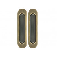 Комплект ручек для раздвижных дверей бронза матовая Armadillo SH 010 WAB-11