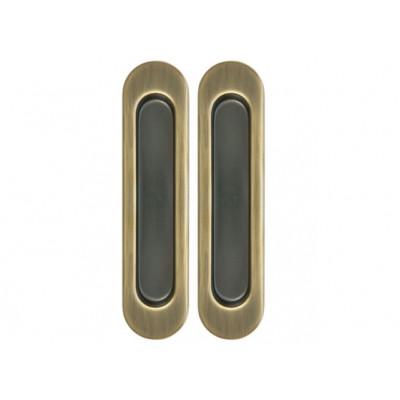 Комплект ручек Armadillo для раздвижных дверей бронза матовая