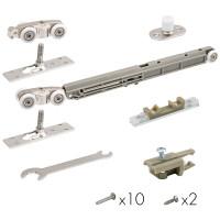 Комплект роликов для раздвижных дверей с 1 доводчиком Armadillo Comfort-PRO STANDART SOFT  80 кг