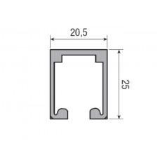 Несущий профиль для складной двери KRONA KOBLENZ 200/3 длина 1000 мм