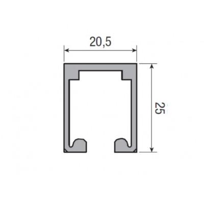 Несущий профиль для раздвижной двери KRONA KOBLENZ 200/3 длина 1000 мм
