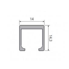 Несущий профиль для складной двери KRONA KOBLENZ 260/8 длина 1000 мм