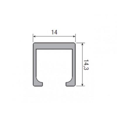 Несущий профиль для раздвижной двери KRONA KOBLENZ  260/8длина 1000 мм