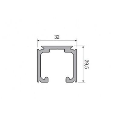 Несущий профиль для раздвижной двери KRONA KOBLENZ 0500 длина 2000 мм