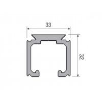 Несущий профиль для раздвижной и складной двери KRONA KOBLENZ 0500/10 длина 2000 мм