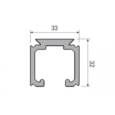 Несущий профиль для раздвижной двери KRONA KOBLENZ 0500/10 длина 2000 мм