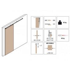 Комплект роликов для раздвижной двери KRONA KOBLENZ 0500-50ABS с доводчиком на двери до 50 кг