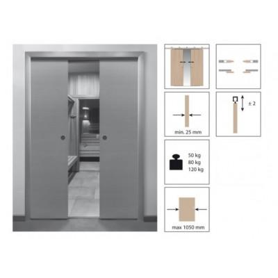 Комплект роликов для раздвижной двери KRONA KOBLENZ 0550-80 SINCRO на двери до 80 кг