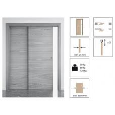 Комплект роликов для раздвижной двери KRONA KOBLENZ 0560-80 TELESCOP на двери до 80 кг