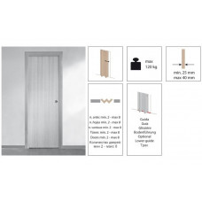 Комплект роликов для многостворчатой складной двери Krona Koblenz 0700-40-4 на 4 дверных полотна
