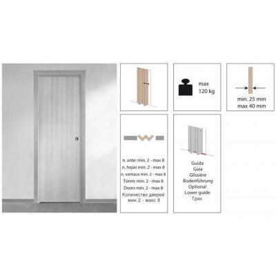 Комплект роликов для складной двери Krona Koblenz 0700-40-4 на 4 дверных полотна